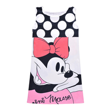 New 2017 Summer/Autumn Baby Girls Dress Minnie Mouse Dresses For Girls Printed Party Dress Polka Dot Vestidos Kids Costume