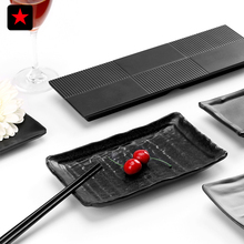 Japanese style black melamine Sushi Platter thickened buffet restaurant hall, Hot pot restaurant tableware Pastry dish