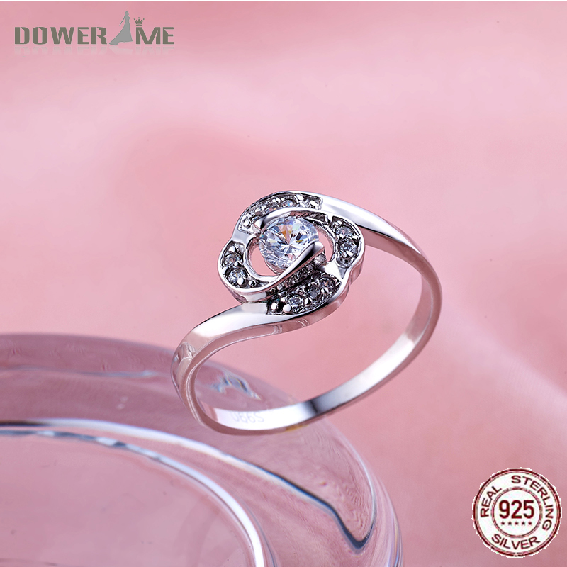 Dower Me 990 Sterling Silver Flower Multiple Inlaid Gemstones Ring Fine Jewelry Diamond Ring For Women Wedding Girl Gifts 88(China (Mainland))