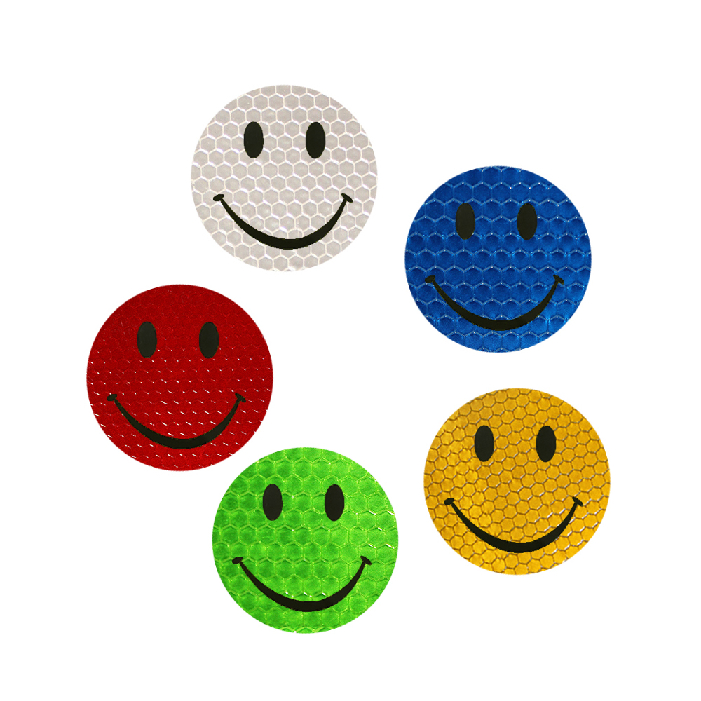 5 color Car Reflective Smiley Stickers accessories