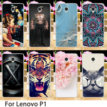 Soft Mobile Phone Cases For Lenovo Vibe P1 p1a42 P1c72 P1c58 4G LTE Case Colorful Hard Back Covers Skin Housing Sheath Bags