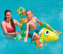 Summer Fun Play Entertainment INTEX 56569 Lizards Ride on Water Inflatable Toys, Children Inflatable Rider Pool Float Gift