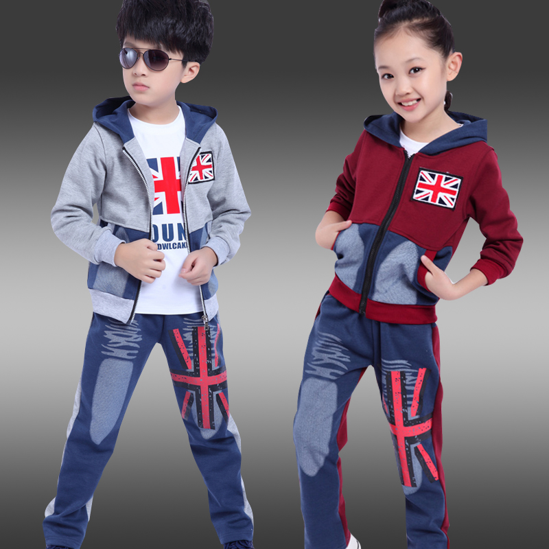 Childrens clothing spring and autumn  unisex casual sweatshirt piece set medium-large child clothes&amp;fashion boys&amp;girls suit<br><br>Aliexpress