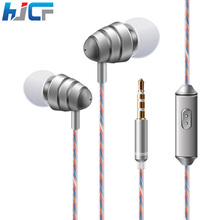 New Wired Earphone Super Bass Stereo Headset 3.5mm Earbuds Sport Running Metal Steelseries Headphone For Mobile Phone KDK204