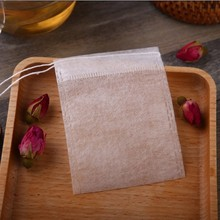 100pcs/lot Tea Bag Corn Fiber PLA Biodegraded Tea Filters Coffee ground pouch with strings empty teabag 5.5*7cm(China)