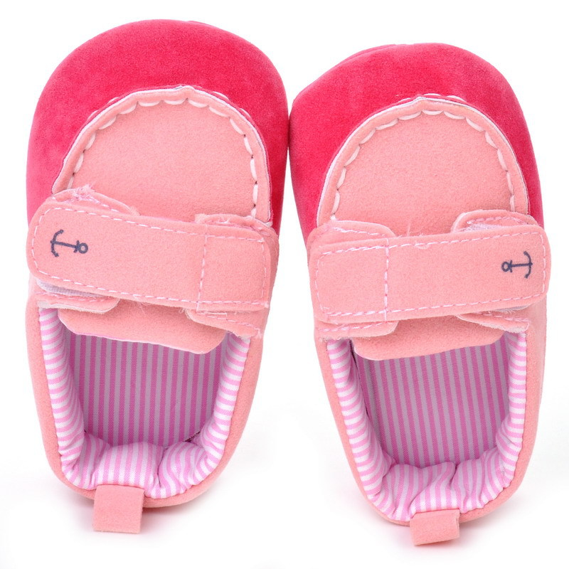 17 Fashion Newborn Baby Girl Boy Shoes Soft Sole Infantil Toddler Baby Boy Sneakers Blue Baby Mocassins Crib Peas Flock Shoes 14