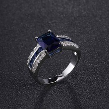Top level and elegant ring boutique high quality alloy jewelry ring three rows of zircon rings for man and women(China)