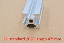 2020 aluminum extrusion profile european standard white length 475mm industrial aluminum profile workbench 1pcs