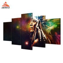 Artryst brand modern Indian figure colorful picture HD print for living room wall 5 canvas art painting with frame deco painting(China)