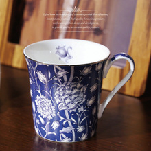 High Quality Pastoral Floral England Style Bone China Coffee Mugs Cup With Handgrip Ceramic Drinkware Gold Edge Milk Tea Cup Mug