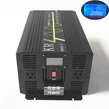 3000W Solar Power Inverter Peak 6000W Pure Sine Wave 12V/24V/48V DC to 120V/220V AC Off Grid with LCD Display USB Port(China)