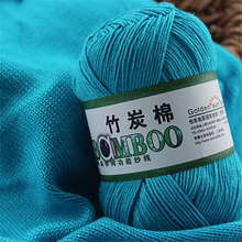 Soft Smooth Natural Bamboo Cotton Hand Knitting Yarn 10pcs Baby Cotton Crochet Yarn For Knitting Eco-Friendly lanas para tejer