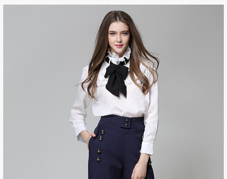 Long Sleeve Office Ladies Women Shirts (25)