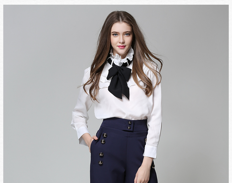 Long Sleeve Office Ladies Women Shirts (25)