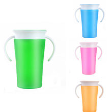 Pudcoco Toddler Drinking 360 Degree Miracle Training Cup Safe Spill Girl Boys Kids 260ml Miracle 360 Sippy Trainer Cup(China)