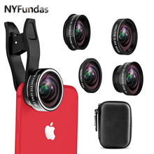 Buy NYFundas Cell Phone Camera Lens Kit 5in1 Fisheye Macro Wide Angle Telephoto CPL Clip Lenses iPhone 8 7 6 5 4S 6S Fish eye for $16.96 in AliExpress store