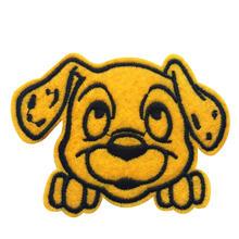 Hot sale embroidery dog logo iron on patch for clothes deal with it sticker flower patches for clothing diy badge free shipping
