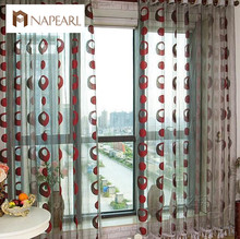Curtain jacquard window tulle curtain fabrics endless design modern sheer panel for balcony(China)