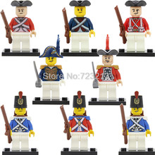 Navy Loyal Single sale Imperial Guard Soldier Figure Caribbean Pirate Building Blocks Brick Educational toys