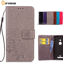 JFVNSUN Case for Microsoft Nokia Lumia 925 NEW Clover Flowers Pattern Wallet Stand Phone Bag Leather Flip Cover for Lumia 925