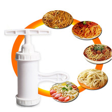 Manual Noodle Maker FDA Grade ABS Pasta Making Machine Spaghetti Press Cutter 4 Molds Kitchen Tools for Handmade Noddle