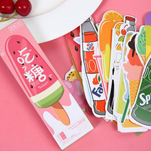 30 pcs/box Dessert & Drink paper bookmark stationery bookmarks book holder message card school supplies papelaria