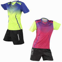New Running Tracksuit Quick Dry breathable badminton shirt sets,Women/Men table tennis game training T Shirts+shorts uniform