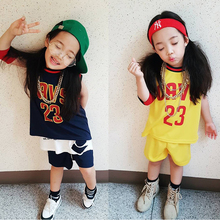 Children Classic Basketball Sleeveless Jersey Set Top and Short Sport Performance Clothes Unisex(China)