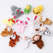 12 pcs/lot christmas mini plush baby toy animal family finger puppets set zodiac boys girls finger puppets(China)