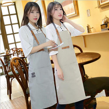 Canvas Aprons Art Painting Adult Apron For Men Women Avental Baking Apron Tablier Household Cleaning Protections Accessories