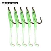 DAGEZI New Luminous Soft Lures Fishing Soft Bait Tiddler Bait With Hook 7cm 10pcs/lot Fishing Lures Tackle Fishing accessories(China)