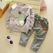 New Autumn Winter Children's Cheap baby clothing set boys Girls suit Kids clothes cartoon dinosaur long sleeve sweatshirts+pants