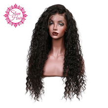 Slove Glueless 150% Density Loose Curly Lace Front Human Hair Wigs For Black Women Pre Plucked Brazilian Remy Hair Bleached Knot(China)