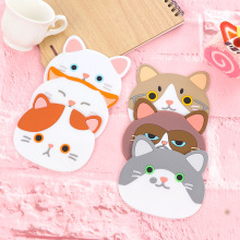 1 Piece Creative Cute Cartoon Kawaii Animals Cat Kitty Pot Bowl heat Insulation Non-slip Pad Cup Holder Mat kitchen Accessory BE(China)