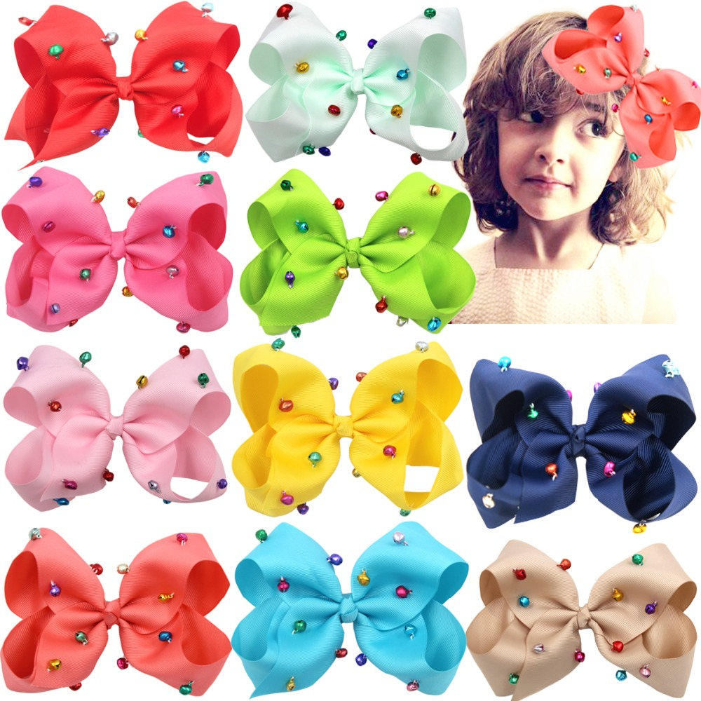 20 Bow Hair Clip Alligator Clips Girls Kids Quality Ribbon lot Christmas Gifts