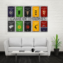 Nice Game Of Thrones Logo Poster Custom Canvas Poster Art Home Decoration Cloth Fabric Wall Poster Print Silk Fabric Print
