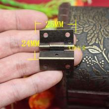 25MM*24MM 50pcs small size three Fold hinges antique jewelry wooden gift box hinges cabinet wine box hange hardware accessories