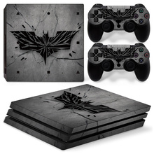 Batman Logo Vinyl Decal PS4 Pro Skin Stickers for Sony PlayStation 4 Pro Console and 2 Controllers Decorative Skins
