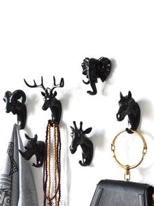 Hanger Decorative Wall-Hook Horse Deer Rhinoceros Animal Goat PVC Bathroom-Wall-Fitting