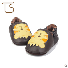 T.S. First Walkers 0-1Age Genuine Soft Leather Infant Shoes Slippers Toddler Skid-Proof Baby Boys Girls shoes First Walkers(China)