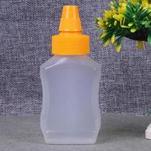 Plastic Squeeze Bottle Condiment Dispenser Sauce Vinegar Oil Ketchup Cruet White Outdoor Barbecue Seasoning Bottle Kitchen Tools(China)
