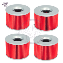 4 Pcs Moto Paper Oil Filter case for KAWASAKI EX250R NINJA 250 1986-2012 ZZR250 EL250 GPX250 GPZ250(China)