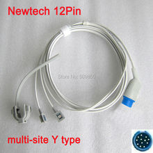 Compatible Newtech NT3A 12pin multi site y model spo2 sensor pulse probe