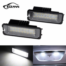HAUSNN Canbus Error Free Number License Plate LED Lights For VW Amarok Eos Golf New Beetle Polo Passat CC Phaeton Scirocco Lupo(China)