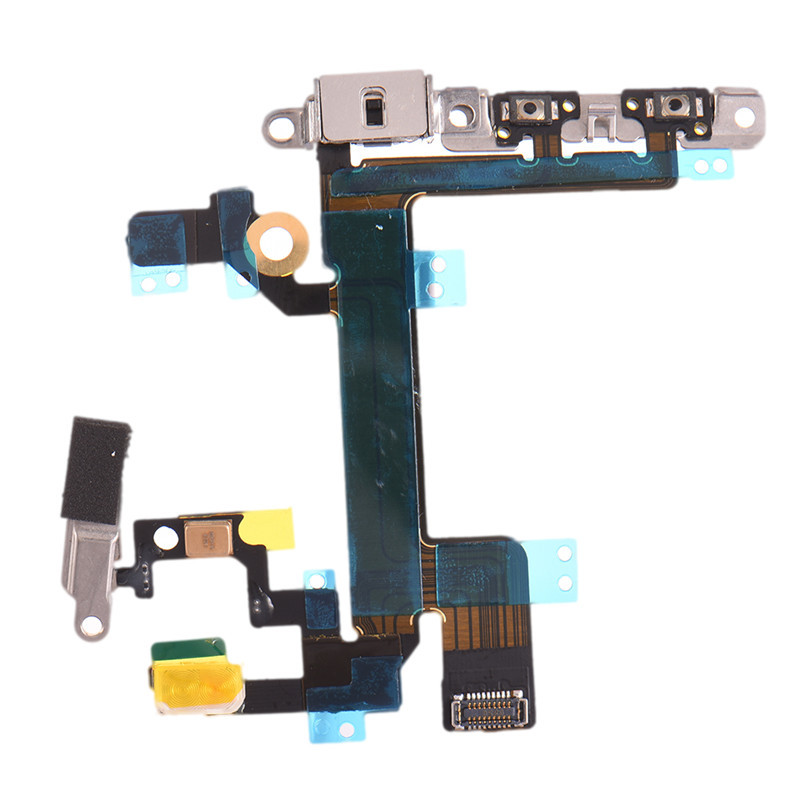 High Quality On / Off Power Switch boot Flex Cable Power Button Mute Volume Flex Cable Mobile Phone Part for iPhone5s iphone6s(China (Mainland))