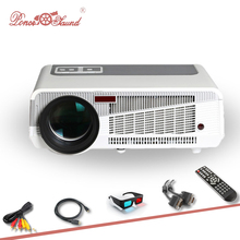 2017 Full HD Projector 5500 lumens LED Android4.4 Wifi Smart Multimedia video 3D Proyector Full HD home theater PK 100 inches TV