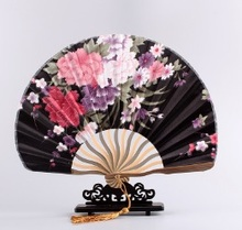 CAMMITEVER Grace Shell Summer Style Pocket Fan Folding Hand Held Fan Wedding Dance Favor Japanese Cherry Blossom Chinese Fans