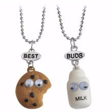 2017 best buds gift friendship pendant necklace milk cookie 2 in set Fashion jewelry 7604