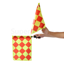 2pcs/set Soccer Referee Flag Judge Sideline Fair Play Sports Match Football Linesman Flags with Bag Referee Equipment(China)