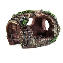 E74 Aquarium Fish Tank Resin Barrel Caves Ornament Furnishing Landscaping Decoration(China)